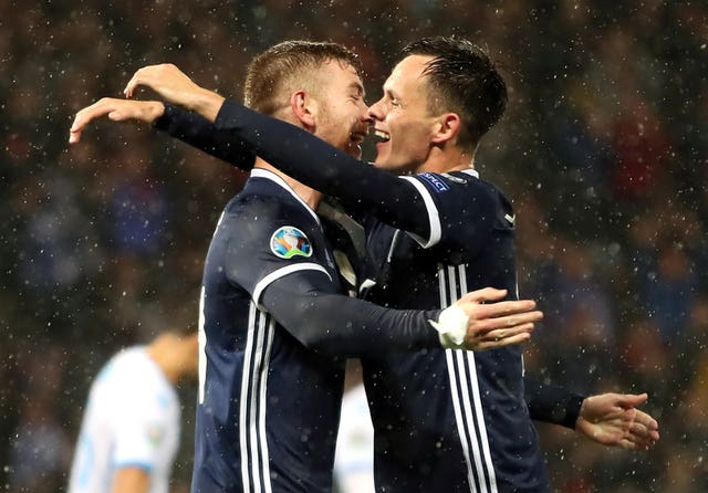 Shankland and Stuart Findlay (left) both scored for Scotland