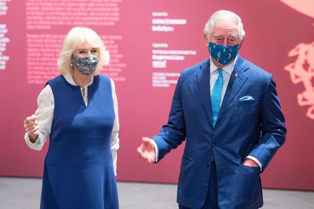 Charles and Camilla at the National Gallery