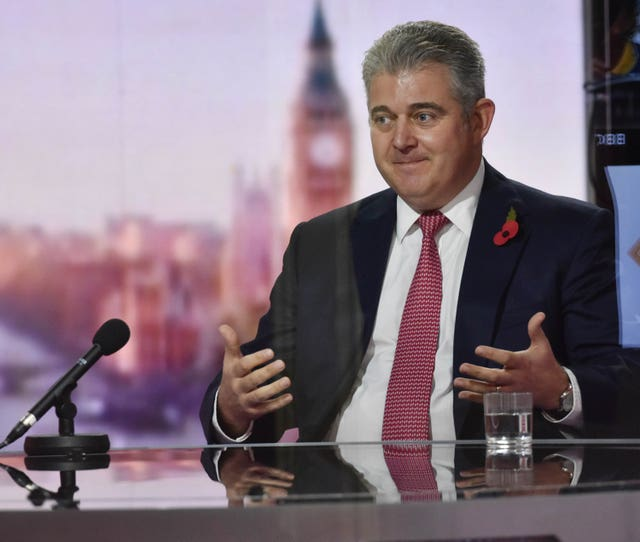 Northern Ireland Secretary Brandon Lewis insisted the Government is providing support despite not extending free school meals provision (Jeff Overs/PA)