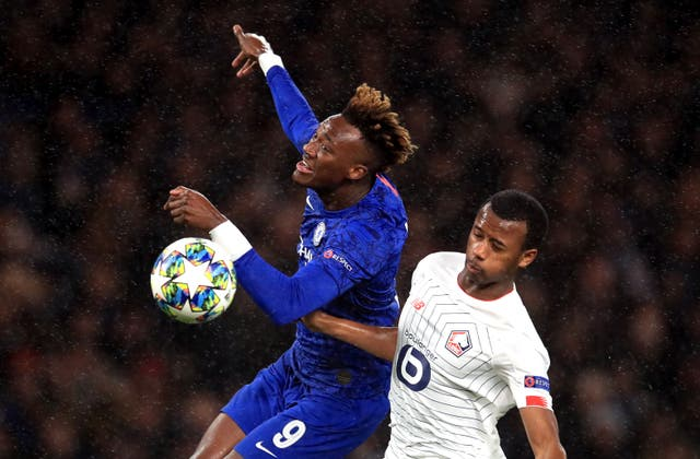 Tammy Abraham in action against Lille