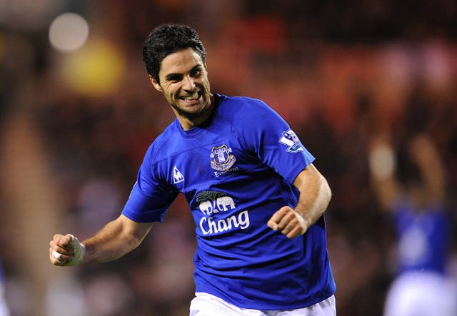 Former midfielder Mikel Arteta remains a fan favourite