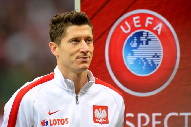 Striker Robert Lewandowski and his Bayern Munich team-mates pose a significant hurdle for Tottenham