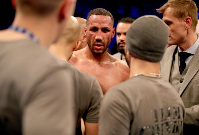 James DeGale, centre, is conttemplating retirement after defeat