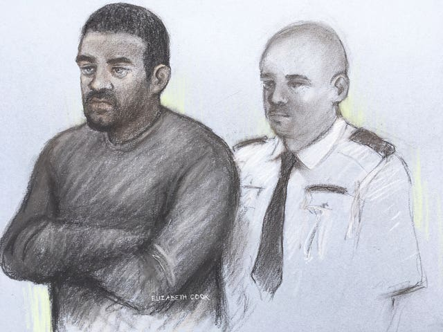 Court sketch of 26-year-old Aaron McKenzie