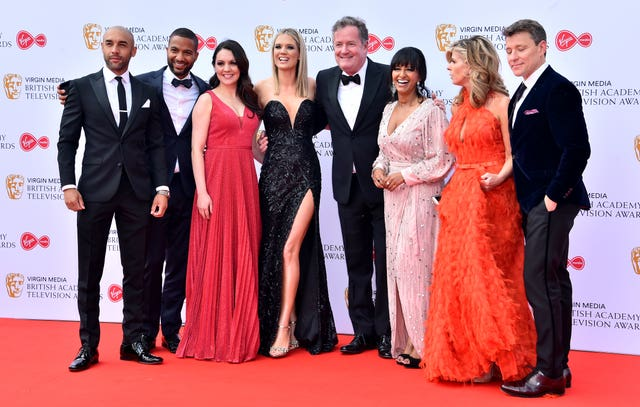 Good Morning Britain's team attending the Bafta TV awards
