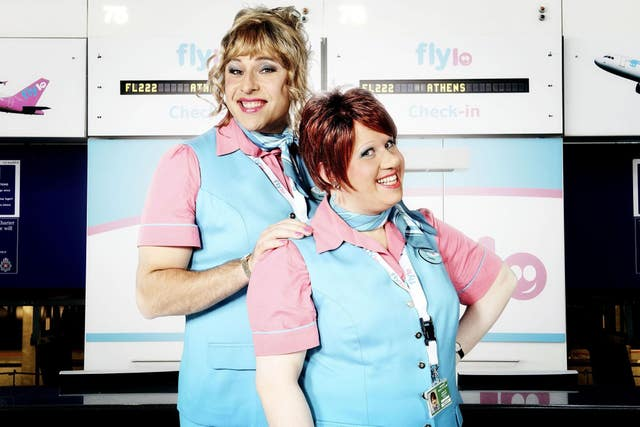 David Walliams and Matt Lucas in Come Fly With Me (PA)