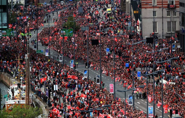 Liverpool victory parade