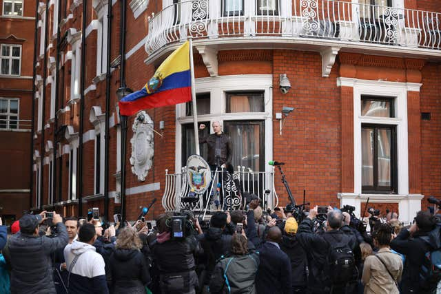 Julian Assange has taken refuge in the Ecuadorian embassy (Philip Toscano/PA