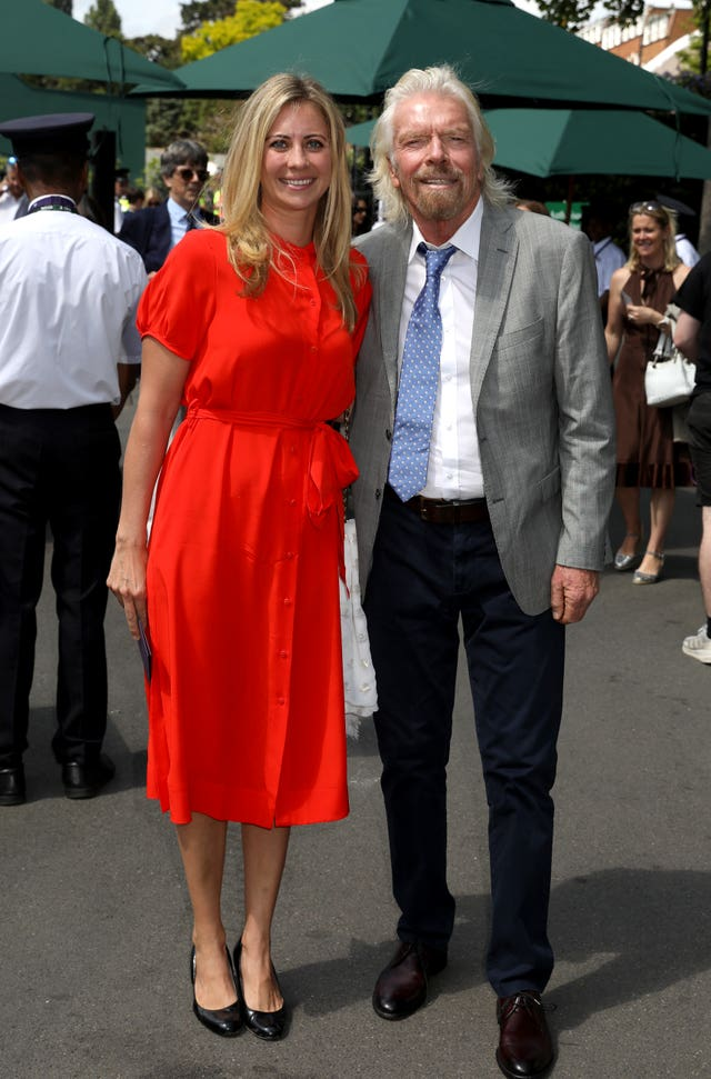Sir Richard Branson with daughter Holly Branson at Wimbledon