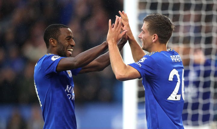 Ricardo Pereira (left) opened the scoring