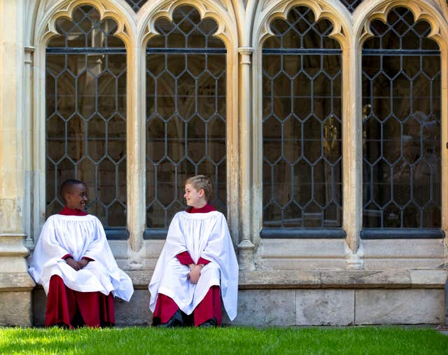 Nathan Mcharo and Leo Mills are among 12 choirboys who form part of the Choir of St George's Chapel (Steve Parsons/PA)