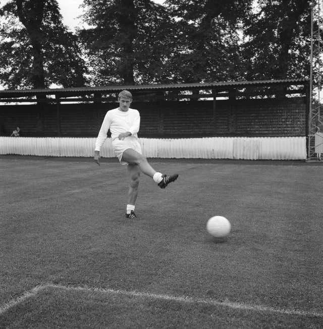 Roger Hunt in England training
