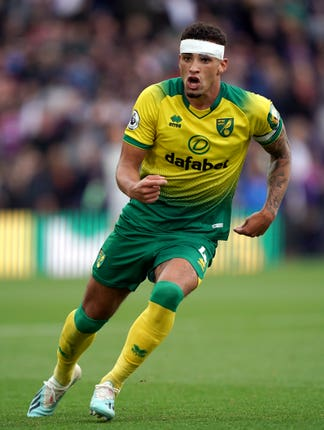 Norwich defender Ben Godfrey was forced off with an injury