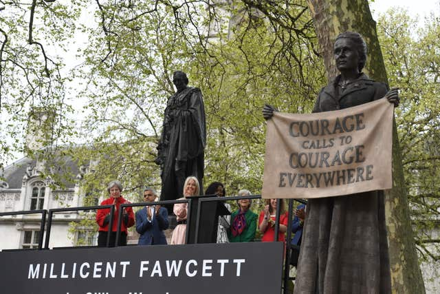 Millicent Fawcett is the first statue of a female figure in Parliament Square (Stefan Rousseau/PA)