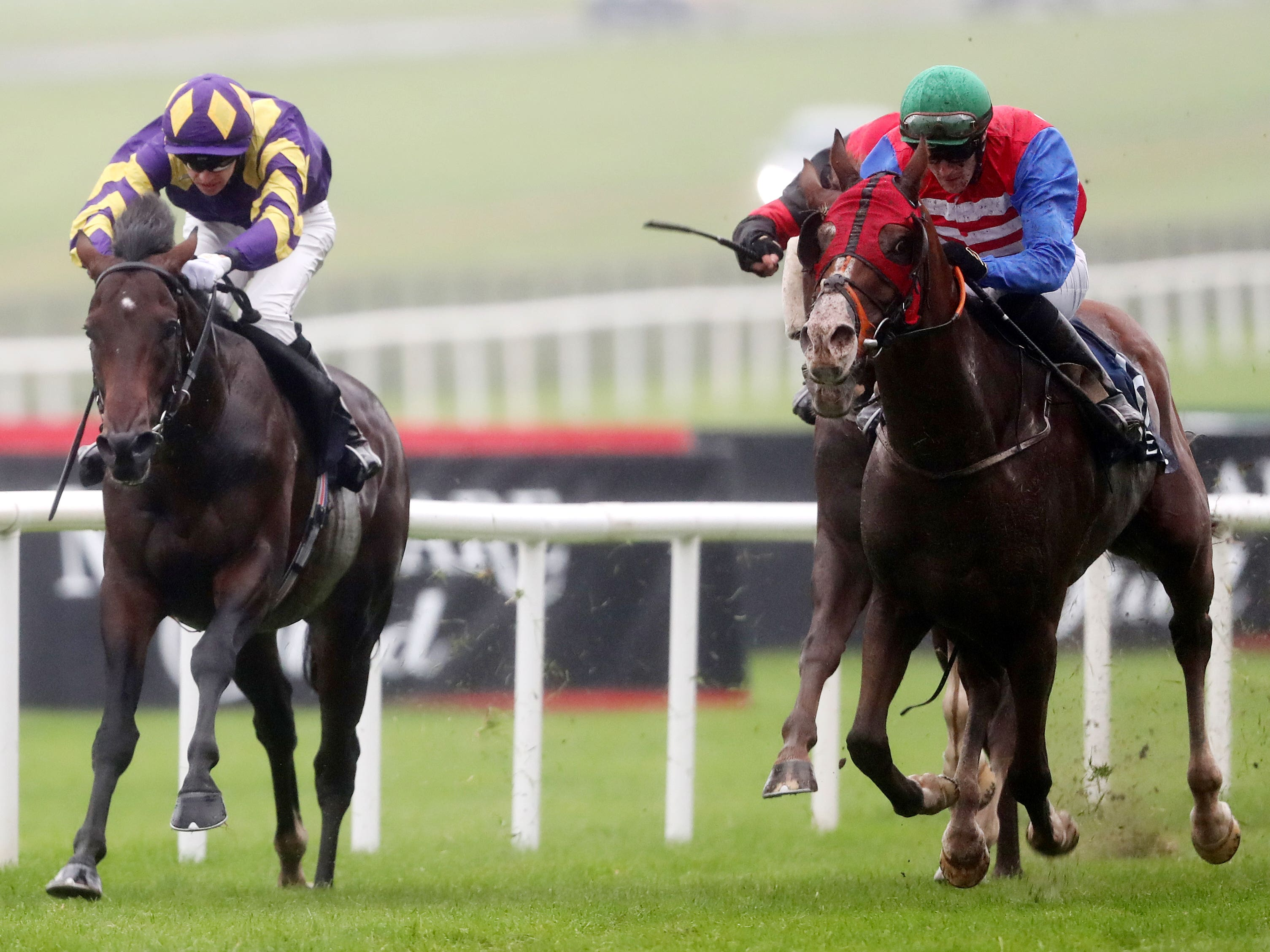 One Cool Poet (right) gets up to win at the Curragh (Niall Carson/PA)