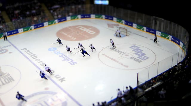 There was ice hockey action in Belarus