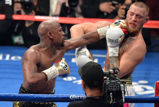 Conor McGregor lost to Floyd Mayweather in a boxing fight in 2017