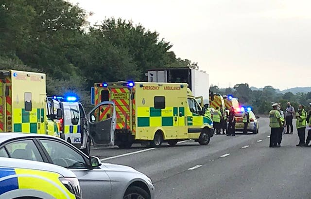 People found in lorry on M11