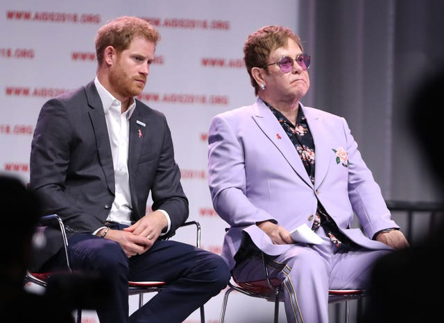 Sir Elton John previously defended the Duke of Sussex