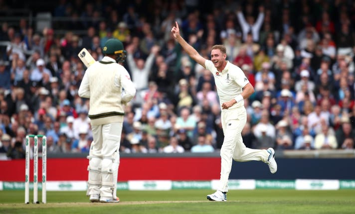 Stuart Broad was also in the wickets