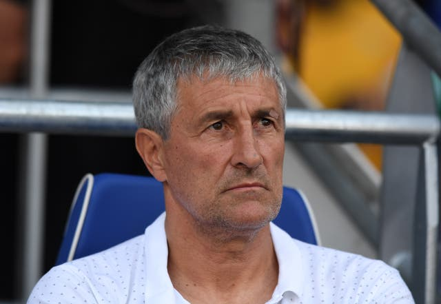 Quique Setien during his spell as Real Betis manager