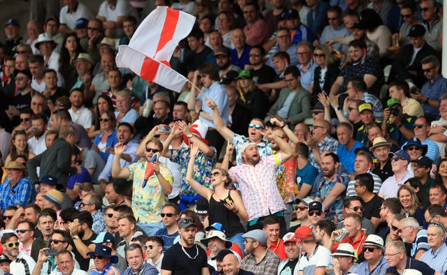 England fans were loving their side's bowling performance