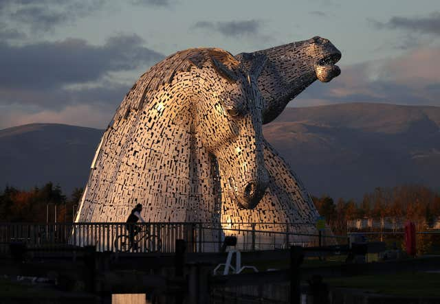 The Kelpies near Falkirk have gone on to win numerous awards (Andrew Milligan/PA)