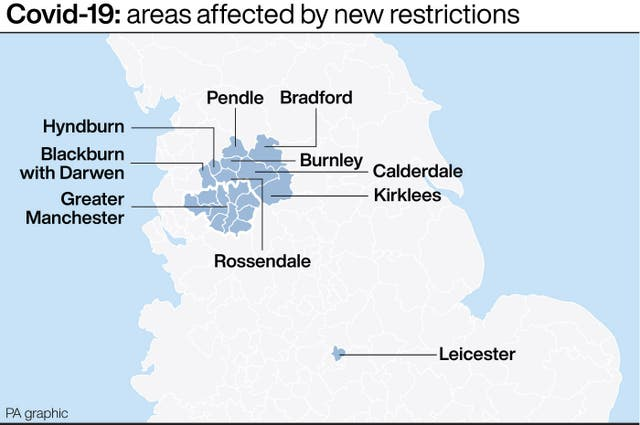 Covid-19: areas affected by new restrictions
