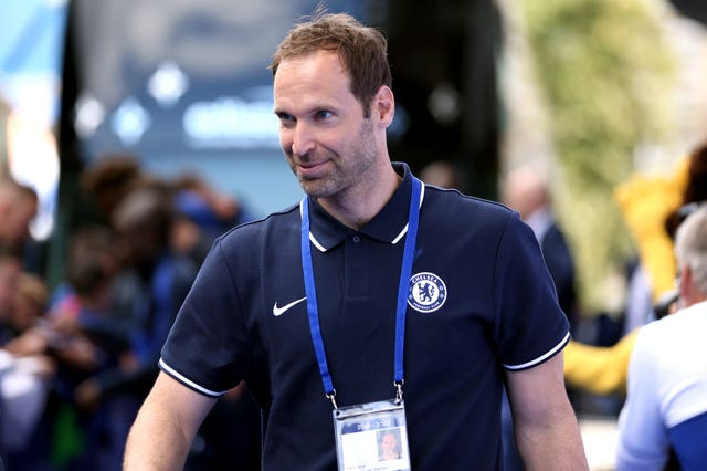 Petr Cech has returned to Stamford Bridge to oversee transfer dealings