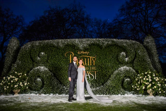 Dan Stevens and Emma Watson at the Beauty and the Beast launch Spencer House, London (PA Photo)