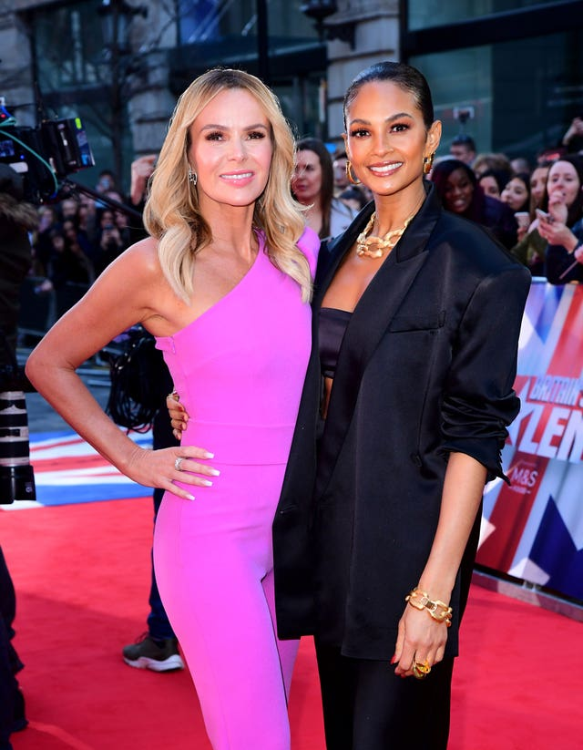 Amanda Holden (left) and Alesha Dixon