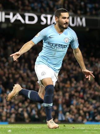 Gundogan joined City from Dortmund three years ago