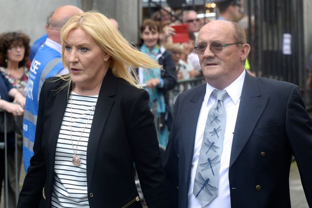 Brendan O'Carroll and his wife Jennifer