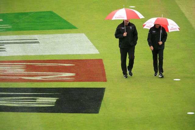 The umpires were forced to abandon South Africa's game against the West Indies.