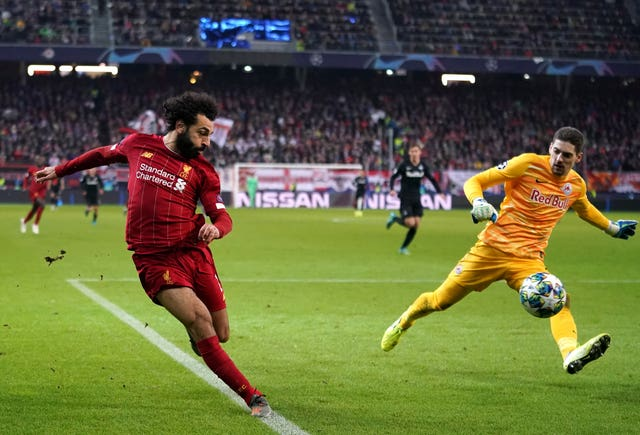 Mohamed Salah scored Liverpool's second goal from an incredibly tight angle