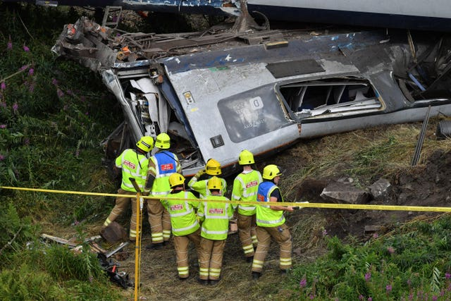 Train derailed at Stonehaven