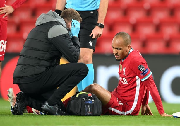 Fabinho's injury against Midtjylland added to Liverpool's defensive problems (Michael Regan/PA).