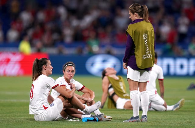 England players reflect on the defeat on the Lyon pitch