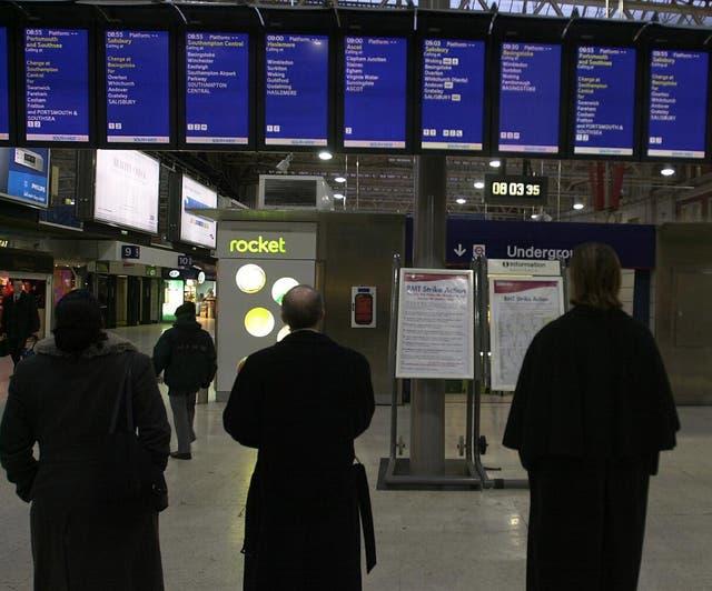 Waterloo train strike