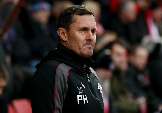 Paul Hurst's stint as Scunthorpe boss also ended soon after the turn of the year (Jonathan Brady/PA).