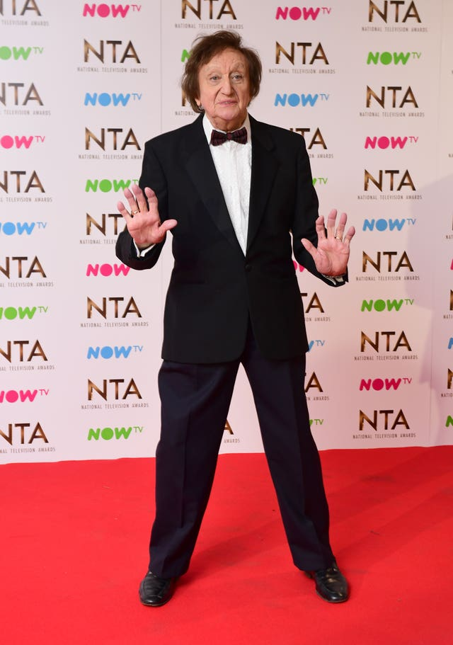 Sir Ken Dodd attended the National Television Awards in 2017