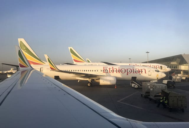 An Ethiopian Airlines plane