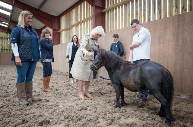 The Duchess of Rothesay visits HorseBack UK