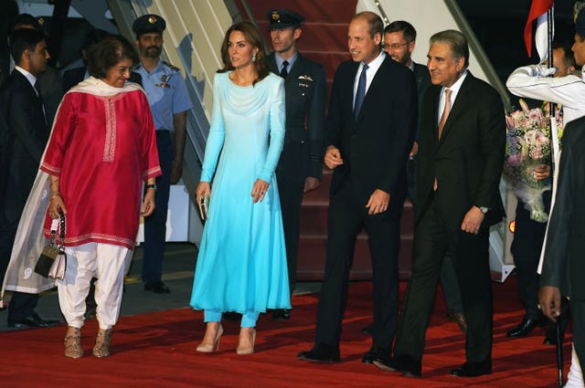 The Duke and Duchess of Cambridge arrive in Pakistan