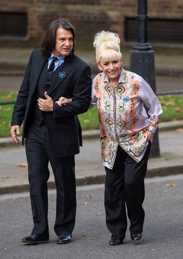 Dame Barbara Windsor and her husband Scott Mitchell