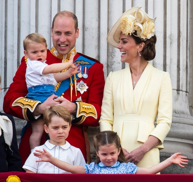 The Duke and Duchess of Cambridge with their children
