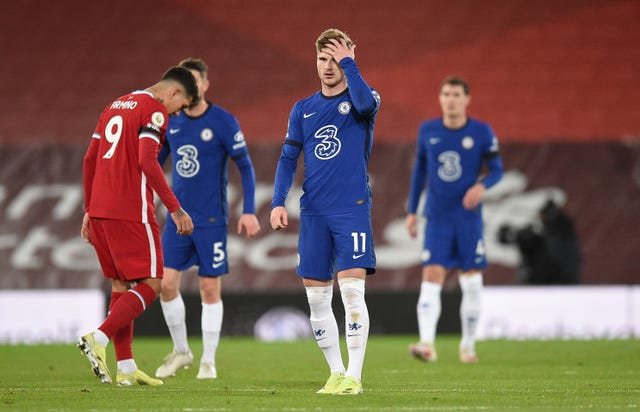 Chelsea striker Timo Werner had a goal ruled out for office following a VAR check against Liverpool on Thursday night