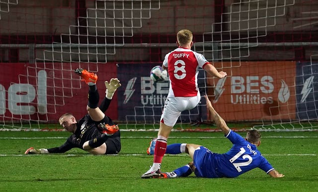 Mark Duffy got Fleetwood back into the game after Jordan Pickford's error