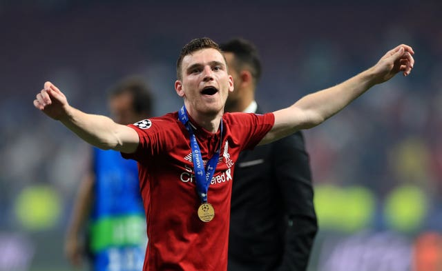 Taylor is competing with Champions League winner Andy Robertson