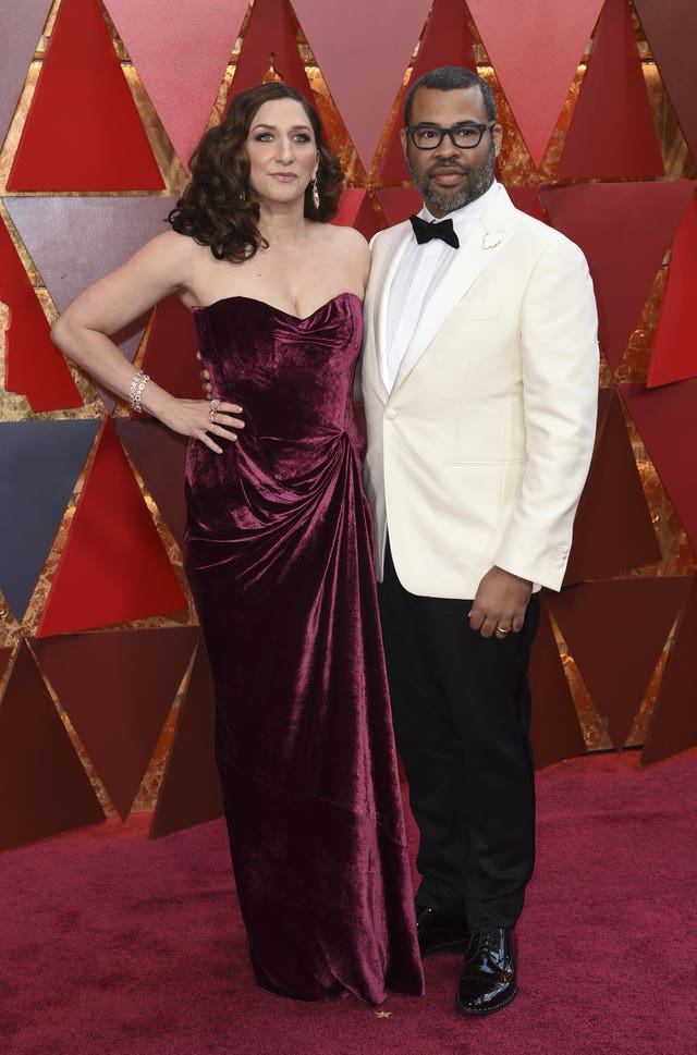 Chelsea Peretti, left, and Jordan Peele (Richard Shotwell/Invision/AP)